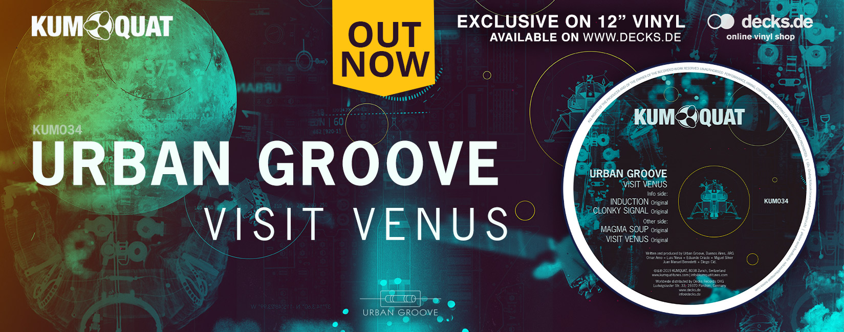 Out Now Urban Groove - Visit Venus EP